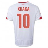 Maillot De Foot 2014/2015 Suisse Exterieur Coupe Du Monde (10 Xhaka) Site Officiel France