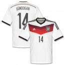 Maillot De Foot Allemagne Domicile Coupe Du Monde 2014 (14 Gundogan)
