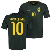 Maillot De Foot Bresil Third Coupe Du Monde 2014 (10 Ronaldinho) Fashion
