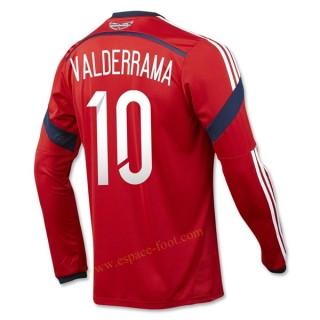 Maillot De Foot Colombie 2014 Coupe Du Monde Valderrama Manche Longue Exterieur Faire Une Remise