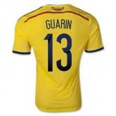 Maillot De Foot Colombie Domicile Coupe Du Monde 2014 (13 Guarin) Livraison Gratuite