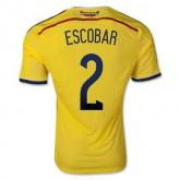 Maillot De Foot Colombie Domicile Coupe Du Monde 2014 (2 Escobar) Achat À Prix Bas