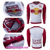 Maillot De Foot - Maillot New York Red Bulls 2015 Game Domicile Manche Longue