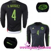 Maillot De Foot - Maillots Mexique R.Marquez 2015 Race Domicile Manche Longue