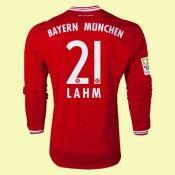 Maillot De Foot Manches Longues Bayern Munich (Lahm 21) 2015/16 Domicile Pas Chere