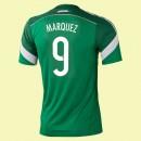 Maillot De Foot Mexique (Marquez 9) 2014 World Cup Domicile Adidas Officiel