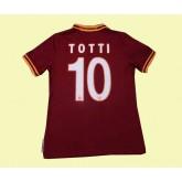 Maillot De Foot Roma (Totti 10) 2015/16 Domicile Pas Cher