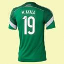 Maillot De Mexique (Hugo Ayala 19) 2014 World Cup Domicile Adidas