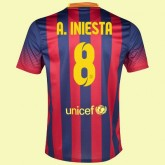 Maillot Du Foot Fc Barcelone (Andres Iniesta 8) 2014-2015 Domicile Nike Soldes Provence