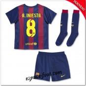 Maillot Fc Barcelone (A.Iniesta 8) Enfant Trousse 2014 2015 Domicile Rabais