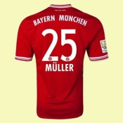 Maillot Foot Bayern Munich (Muller 25) 2014-2015 Domicile Adidas Boutique Paris