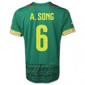 Maillot Foot Cameroun 2014 Coupe Du Monde A.Song Domicile Soldes