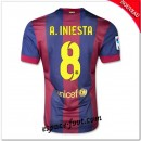 Maillot Foot Fc Barcelone (A.Iniesta 8) 2014-15 Domicile Soldes