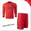Maillot Foot Fc Barcelone Enfant Trousse 2014-15 Manche Longue Extérieur France