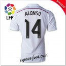 Maillot Foot Fc Real Madrid (Alonso 14) 2014-15 Domicile