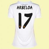 Maillot Foot Femme Fc Real Madrid (Arbeloa 17) 2014-2015 Domicile Adidas Soldes