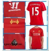 Maillot Foot Liverpool Sturridge 2014 2015 Domicile Pas Chere