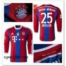 Maillot Foot Manche Longue Bayern Munich Muller 2014 2015 Domicile Nice