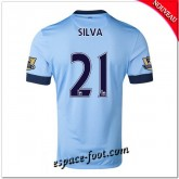 Maillot Foot Manchester City (Silva 21) 2014 2015 Domicile Soldes Cannes