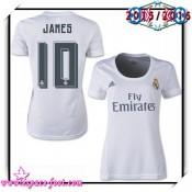 Maillot Foot Real Madrid Fc James 2015 2016 Femme Domicile Maillot De Foot Rabais En Ligne