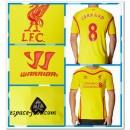 Maillot Liverpool Gerrard 2014 15 Extérieur Réduction