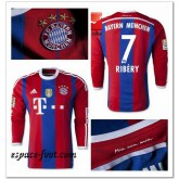 Maillot Manche Longue Bayern Munich Ribery 2014-15 Domicile France