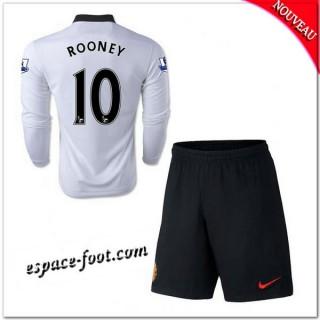 Maillot Manchester United Enfant Trousse (Rooney 10) 2014-15 Manche Longue Extérieur