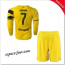 Maillots Borussia Dortmund Enfant Trousse (Kagawa 7) 2014/15 Manche Longue Domicile Prix