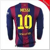 Maillots Fc Barcelone (Messi 10) Manche Longue 2014 2015 Domicile Site Francais