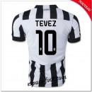 Maillots Juventus (Tevez 10) 2014-15 Domicile Site Officiel