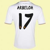 Maillots Real Madrid (Arbeloa 17) 2014-2015 Domicile Adidas