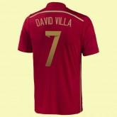 Nouveaux Maillot De Foot Espagne (David Villa 7) 2014 World Cup Domicile Adidas