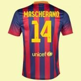 Nouveaux Maillot De Football (Javier Mascherano 14) Barcelone 2014 2015 Domicile Nouveau