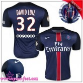 Paris Saint Germain Maillot David Luiz 2015/2016 Game Domicile Maillot Foot David Luiz 2015/2016