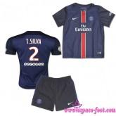 Paris Saint Germain Maillot Foot T.Silva Baby Kits 2015/16 Game Domicile Maillot De Foot T.Silva 2015/16 Soldes Alsace