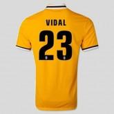 Personnalisé Maillot De Foot Juventus (Vidal 23) 15/16 Extérieur Nike Nice