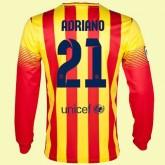 Personnalisé Maillot De Foot Manches Longues Barcelone (Adriano 21) 2014-2015 Extérieur Nike Pas Cher Lyon