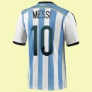 Solde Maillots (Messi 10) Argentine 2014 World Cup Domicile Adidas Officiel