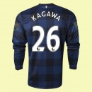 Soldes Maillot De Football Manches Longues Manchester United (Kagawa 26) 2014-2015 Extérieur Nike