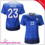 Usa Maillot Foot Press Femme 2015/16 Game Extérieur Maillot De Foot Press 2015/16