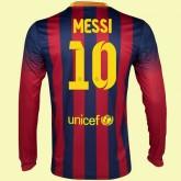 Vente Maillot De Foot Manches Longues (Lionel Messi 10) Barcelone 2014-2015 Domicile Nike Officiel Europe