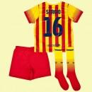 Vente Maillot Foot Juniors (Sergio Busquets 16) Fc Barcelone 2014 2015 Extérieur Nike En Solde