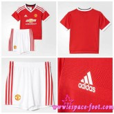 Achat Maillot Manchester United Enfant Kits 2015-16 Domicile