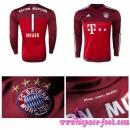 Acheter Des Maillot Bayern Munich Gardien Neuer 2015/2016 Manche Longue Extérieur Pas Cher Nice