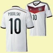 Acheter Des Maillot Football (Podolski 10) Allemagne 2014 World Cup Domicile France