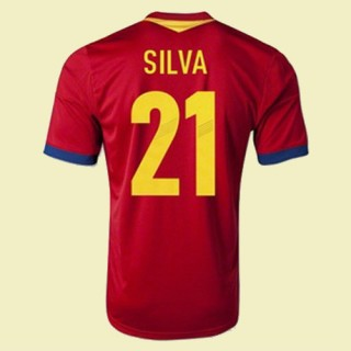 Acheter Des Maillot Football (Silva 21) Espagne 15/16 Domicile Collection