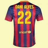 Acheter Maillot De Foot (Dani Alves 22) Fc Barcelone 2014 2015 Domicile Rabais Paris