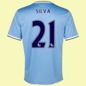 Acheter Maillot De Football Manchester City (Silva 21) 15/16 Domicile Nike France