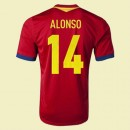 Acheter Maillot Du Foot Espagne (Alonso 14) 2014 2015 Domicile Adidas Soldes Marseille