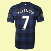 Acheter Maillot Du Foot (Valencia 7) Manchester United 2014 2015 Extérieur